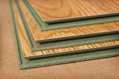 Pack of laminate panels, stylized natural wood Stock Photos