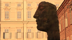 Art at the Palazzo Reale, the royal palace of the House of Savoy Stock Footage