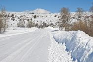 Stock Photo of winter mountain road