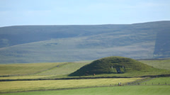 Maeshowe, a neolithic burial cairn in Orkney, Scotland Stock Footage