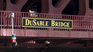 Stock Video Footage of Du Sable Bridge Chicago on Michigan Ave