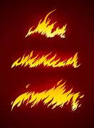 burning flame of fire vector silhouette - stock illustration