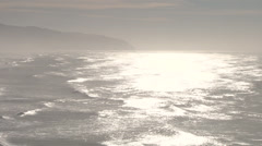 Sunny Ocean Waves Rolling - stock footage