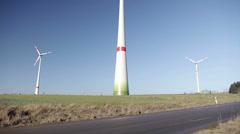 Wind farm, tilt shot - stock footage