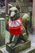 Kitsune statue, shinto shrine, japan Stock Photos