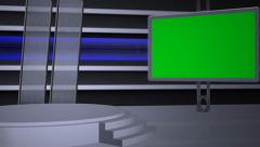 virtual studio background - green screen - stock footage