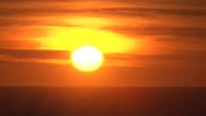 Stock Video Footage of Sunset Horizon Time Lapse