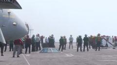 USS Nimitz aircraft carrier Flight Operations Stock Footage