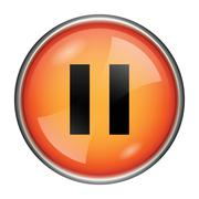pause icon - stock illustration