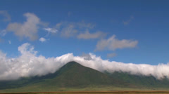 timelapse clouds over Ngorougoro crater - stock footage