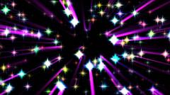 Shining sparkle stars 1 wiggle - stock footage