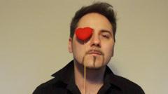 Heart eye patch Stock Footage