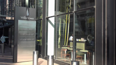 Willis Tower Entrance - stock footage