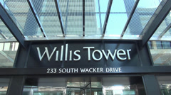 Stock Video Footage of Willis Tower former Sears Tower