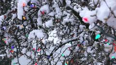 Winter City - Christmas Park - 04 - Light Decoration Stock Footage