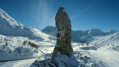 Beautiful winter snow landscape Stock Footage