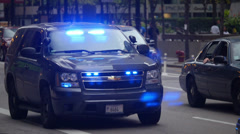 Undercover Police car - stock footage
