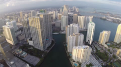 Brickell and bay pan - stock footage