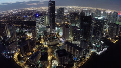Stock Video Footage of Brickell at night