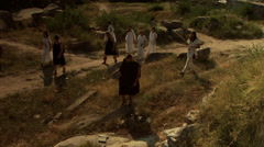 Thracian tribe of women warriors migrated - stock footage