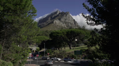 Table Mountain time lapse ,Cape Town - stock footage