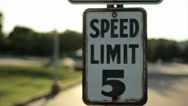 Stock Video Footage of Rusted Speed Limit Sign