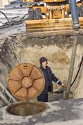 Utility worker - stock photo