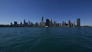 Stock Video Footage of Wide Angle Chicago Skyline great view
