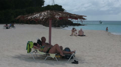 Antigua Island Caribbean family beach resort pan HD 1217 - stock footage