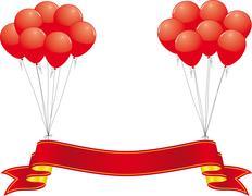 celebration banner - stock illustration