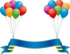 Celebration banner Stock Illustration