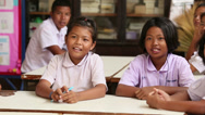 Stock Video Footage of Asian Gradeschool Students In Classroom