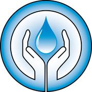 waterdrop and hands - stock illustration