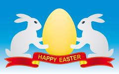 Easter bunny and egg Stock Illustration