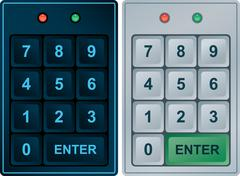 Stock Illustration of keypad entry