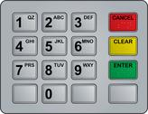 Stock Illustration of atm keypad