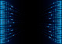 blue graphic equalizer display - stock illustration
