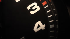 Black clock with numbers Stock Footage