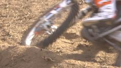 Motocross Bike in Dirt Stock Footage