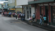 Stock Video Footage of City center busy street Antigua Island Caribbean HD 1247