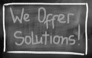 Stock Photo of we offer solutions concept