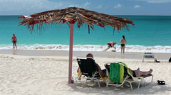 Family fun Antigua Island Caribbean beach surf HD 1214 - stock footage