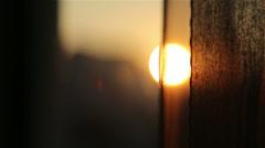 Sun curtains Stock Footage