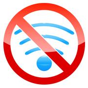 no wifi - stock illustration