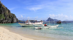 Tropical beach in El Nido, Philippines Stock Footage