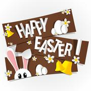 Happy Easter Greeting Card - stock illustration
