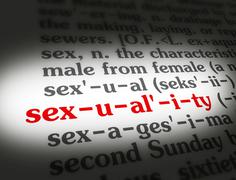 Dictionary sexuality Stock Illustration