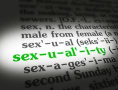 Dictionary sexuality - stock illustration