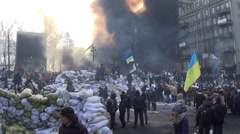 Ukraine, Kiev, opposition to Hrushevskoho Stock Footage