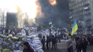 Stock Video Footage of Ukraine, Kiev, opposition to Hrushevskoho